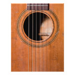 Rustic guitar full color flyer