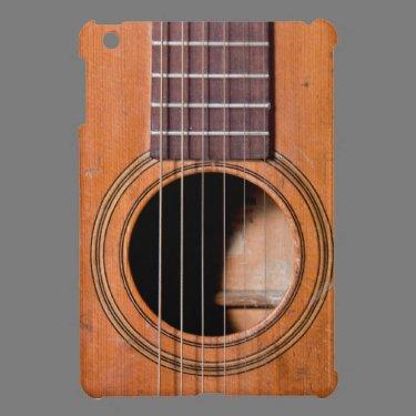 Rustic guitar iPad mini cases