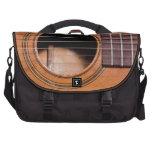 Rustic guitar laptop messenger bag