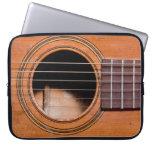 Rustic guitar laptop sleeves