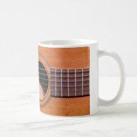 Rustic guitar mugs