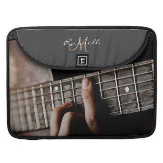 Rustic Guitar Music Personalized Macbook Sleeve