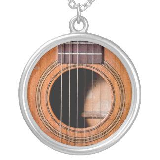 Rustic guitar custom necklace