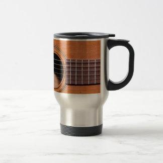 Rustic guitar travel mug