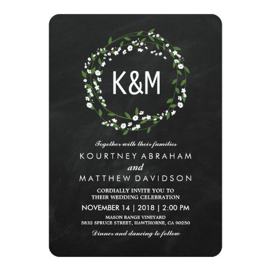 Rustic Baby's Breath Wedding Invitations