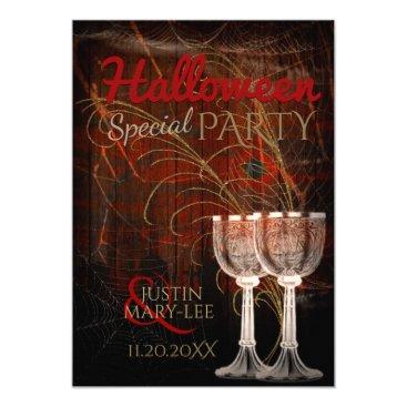 Halloween Themed Rustic Halloween Vintage Charm Party Invitation