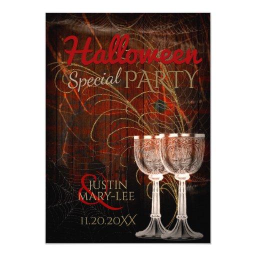 Rustic Halloween Vintage Charm Party Invitation