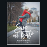 "Rustic Hand Lettering Photo Save Our Date Postcard<br><div class=""desc"">A stylish vertical save the date postcard featuring rustic modern calligraphy. Personalise this card by adding your own photo and details. A flat card version is available.</div>"