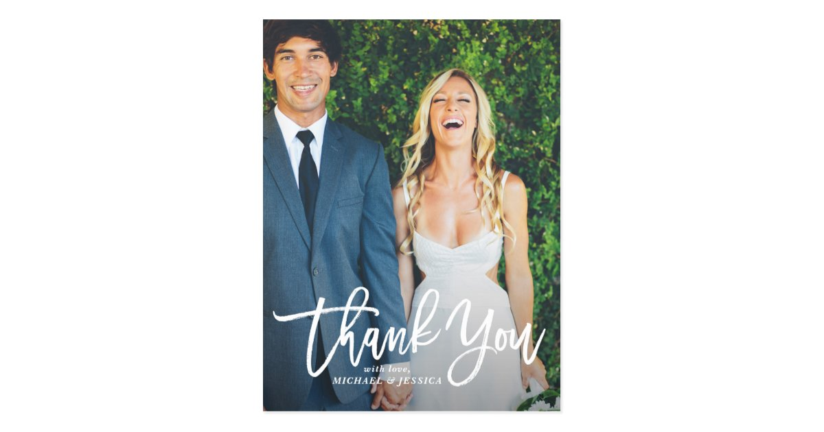 wedding thank you postcards with photo