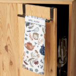 """Rustic Hand Painted Country Kitchen Monogram Tea Kitchen Towel<br><div class=""""desc"""">Commemorative tea towels are ideal for creating keepsakes or celebrating special events. Perfect gift for newlyweds. Add your custom wording to this design by using the """"Edit this design template"""" boxes on the right hand side of the item, or click the blue """"Customize it"""" button to arrange the text, change...</div>"""