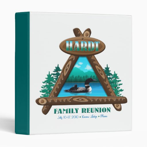 Rustic Hardt Family Reunion 3 Ring Binders