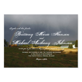 Rustic Hay Bales Country Wedding Invitations 4.5