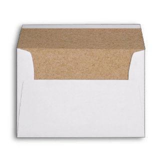 Rustic Heart Faux Kraft Lined Wedding Invitation Envelope
