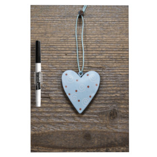 Rustic heart wooden and tin Dry-Erase board