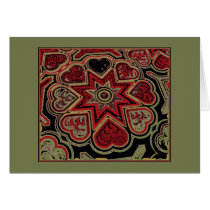 'Rustic Hearts'  Note Card