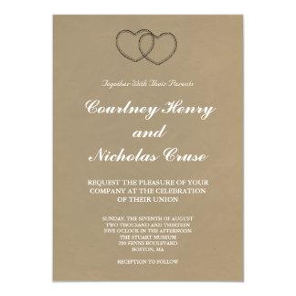 Rustic Hearts Wedding Invitations