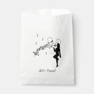 Rustic High Step Dancing to the Music Personalized Favor Bag