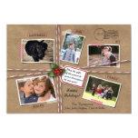 Rustic Holiday Christmas Kraft Paper 5 Photo 5x7 Paper Invitation Card