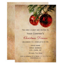 Rustic Holiday party Invitations