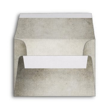 invitations_kits Rustic hombre gray old vintage look wedding envelope