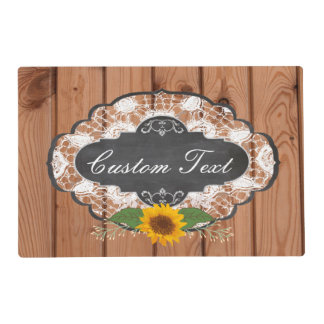 Rustic Home Sayings Customizable Design Placemat