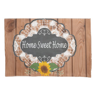 rustic home sayings design pillow case