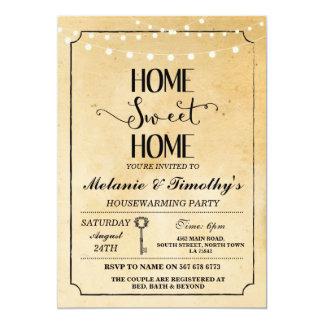 Rustic Home Sweet Home Housewarming Invitation