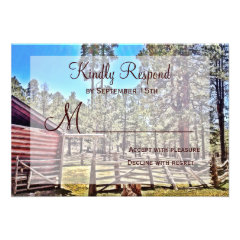 Rustic Horse Corral Country Wedding RSVP Cards