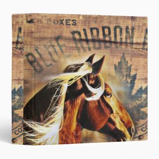rustic  horse cowboy  western country wedding 3 ring binder