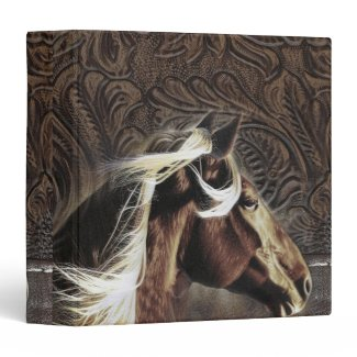 rustic horse cowboy western country wedding vinyl binders