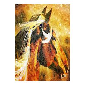 rustic  horse cowboy  western country wedding invitation