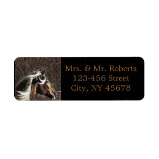 rustic  horse cowboy  western country wedding labels