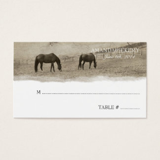 Rustic Horse Farm Seating Cards