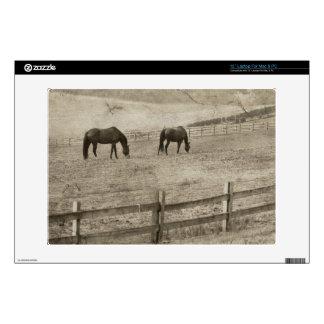 Rustic Horse Farm Laptop Decal