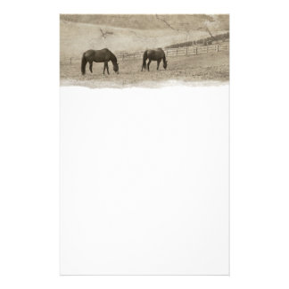 Rustic Horse Farm Stationery