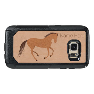 Rustic Horse Faux Leather galaxyS7 Add Your Name OtterBox Samsung Galaxy S7 Case