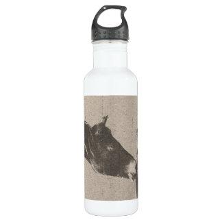 Rustic Horse Heads 24oz Water Bottle