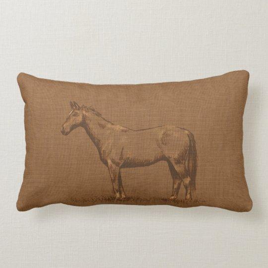 Rustic Horse Lumbar Cushion Zazzle Com