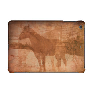 Rustic Horse Painting, Equine Art for Horse-lovers iPad Mini Cases