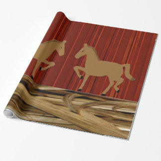 Rustic Horses Wrapping Paper