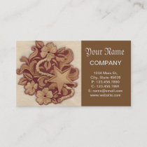 rustic horseshoe cowboy western country floral business card