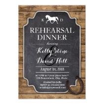 Rustic Horseshoe Horse Wedding Rehearsal Dinner Invitation