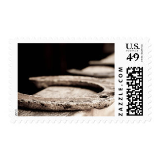 Rustic Horseshoe Postage Stamps