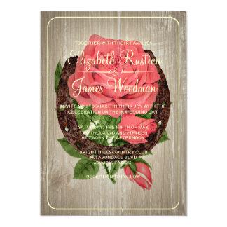 "Rustic Horseshoe Wedding Invitations 5"" X 7"" Invitation Card"