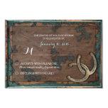 "Rustic Horseshoe Wedding RSVP Card 3.5"" X 5"" Invitation Card"