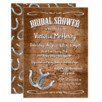 Rustic Horseshoe Western  Bridal Shower Invitation