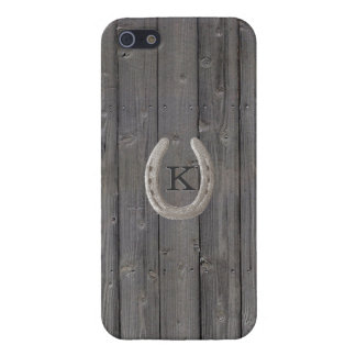 Rustic Horseshoe Wood Background iPhone 5/5S Cover