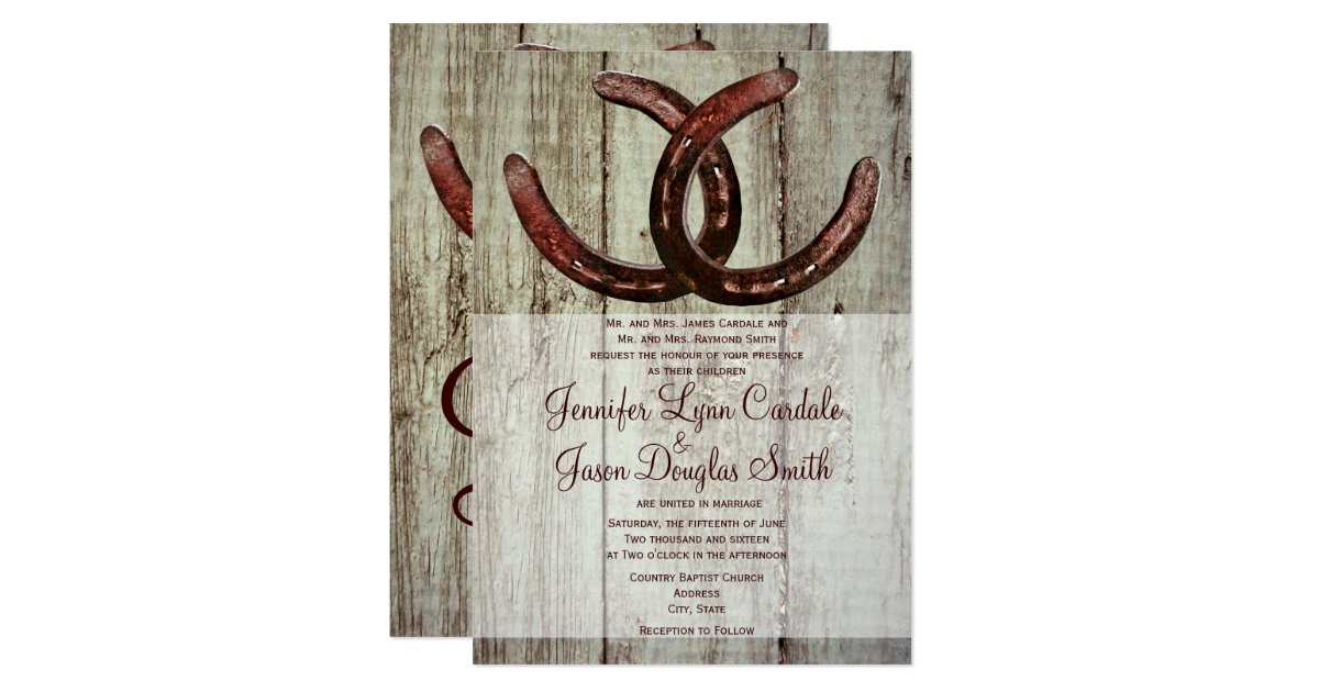 Country Style Invitations Announcements – Country Style Wedding Invites