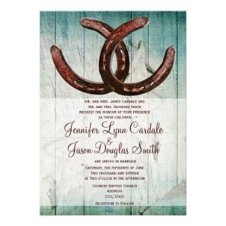 Rustic Horseshoes Country Style Wedding Invitation