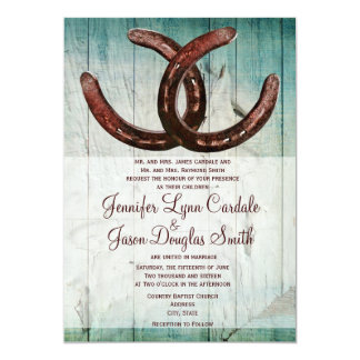Rustic Horseshoes Country Style Wedding Invitation